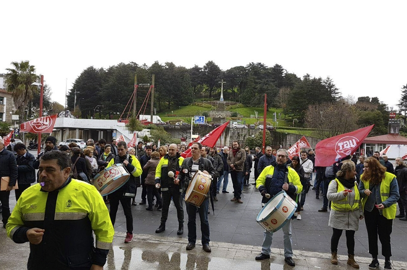 Concentraciones en Vigo; Astra Seguridad en el astillero H.J. Barreras y Dornier