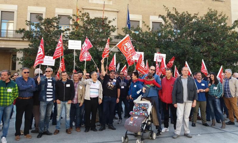 Los trabajadores de seguridad exigen un convenio digno